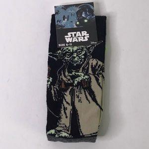 Accessories - NWT Star Wars Yoda Socks